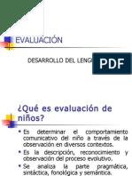 EVALUACION DEL DESARROLLO DEL LENGUAJE FONOAUDIOLOGIA