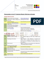 Programme of the 4th Comenius Project Meeting
