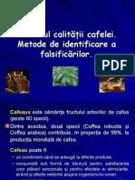 Controlul Calitatii Cafelei - Metode de Identificare a Falsificarilor