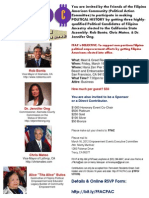 March 16, 2012 - Your Invitation to FFAC's Meet and Greet/Fundraiser for Rob Bonta, Chris Mateo, Dr. Jennifer Ong