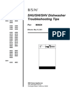 Bosch Dishwasher Multi Model Test Programs Dishwasher
