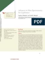 BlanksbySJ10_Advances in Mass Spectrometry for Lipidomics