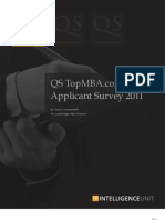 QS TopMBA.com Applicant Survey 2011