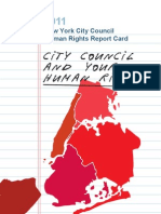 2011 NYC Council Human Rights Report Card, Center for Urban Justice