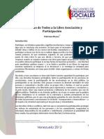 El derecho a la participación y a la libre asociación