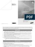 Samsung LED TV UE32CPWXXU User Manual