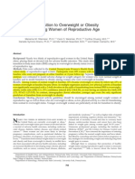 Transition to Overweight or Obesity Among Women of Reproductive Age - Hillemeier