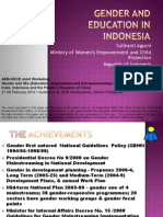 Gender and Education in Indonesia