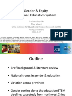 Gender & Equity in China's Education System