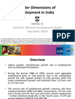 Gender Dimensions of Employment in India