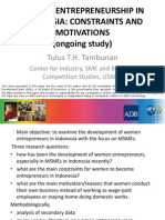 Women Entrepreneurship in Indonesia