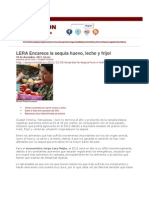 LERA Encarece sequía alimentos básicos