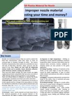 PVDF Plastic Material for Nozzle