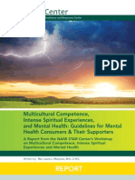 2012 STAR Center REPORT on Mental Health & Intense Spiritual Experiences
