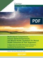 2012 STAR Center REPORT on Mental Health & Intense Spiritual Experiences