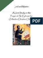 Prayer of St. Ephraim Unit Study Part 1