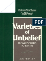 Anthology, Gaskin (Ed) - Varieties of Unbelief From Epicurus to Sartre - 1989