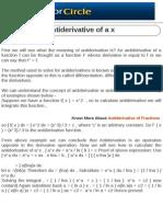 Anti Derivative of a x