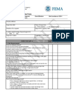 FEMA - Labor Camp Inspection Form
