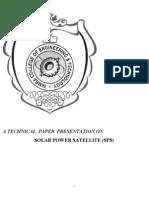 Solar Power Satellite (Sps)