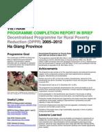 Ha Giang – Final Report in Brief