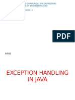 Exception Handling in Java-Ishan Ghosh