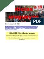 Noticias Uruguayas Lunes 5 de Marzo de 2012