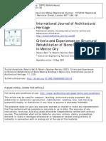 Meli&Sanchez Ramirez_2007_Criteria and Experiences on Structural Rehabilitation of Stone Masonry Buildings in Mexico City