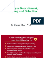 Employee Recruitment Testing and Selection