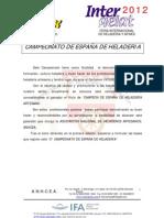 CAMPEONATO DE ESPAÑA DE HELADERIA(bases)