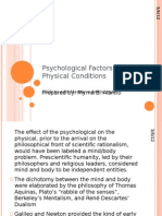 Psychological Factors Affecting Physical Conditions