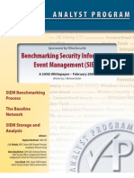 Benchmarking SIEM