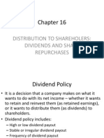 Distribution to Shareholders