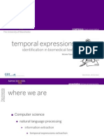 Temporal Expressions in Bio Medical Texts