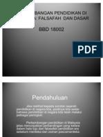 Dasar-Dasar Dan Hala Tuju Pendidikan Malaysia