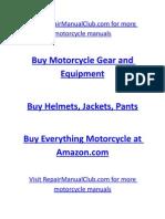 Ducati Monster S4R 2004 Owners Manual Www.repairManualClub