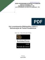 Um Levantamento Bibliográfico sobre a Estruturação de Textos Acadêmicos
