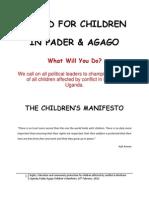 Pader Child Rights Manifesto