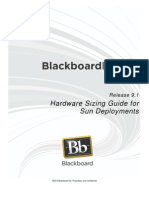 Blackboard Learn 9.1 Hardware Sizing Guide for Sun Deployments