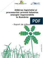 Imbunatatirea legislatiei si procedurilor privind folosirea energiei regenerabile in Romania