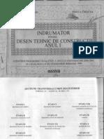 Indrumar Pentru Desen Tehnic de Constructii Anul i - Monica Gheorghiu