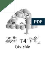 División en 4º año. Colección Guatemática -Ministerio de Educación de Guatemala-