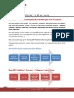 Brochure OpenERP Publishers Warranty