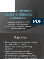 Current Trends Issues in Nursing Education