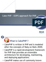 Cake PHP OOPS Approach for PHP