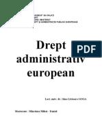 Drept Administrativ European