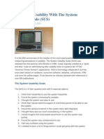 1984 SUS (System Usability Scale)