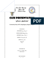 Down Syndrome (Case Presentation Output)