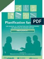 La Planification Familiale 9780978856304_fre