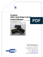 IO Cable PL2303TA Datasheet Ds Pl2303TA v1.1.0